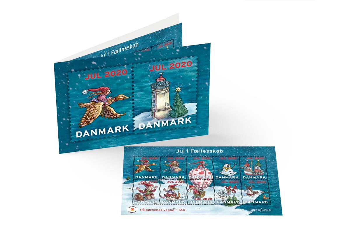 Julemærket 2020 - souvenirmappe med 10 udvalgte motiver