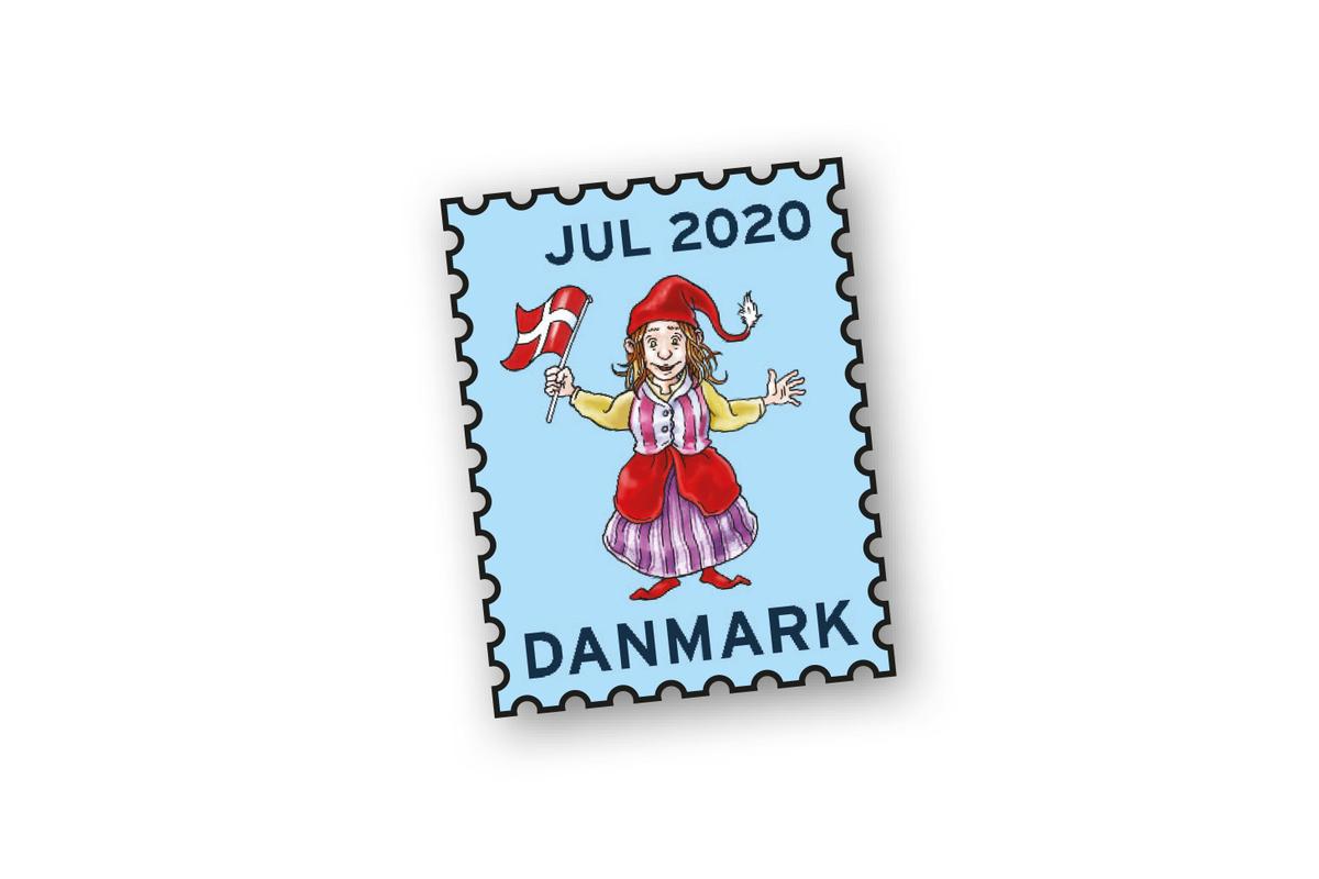 Pin med motiv fra Julemærket 2020