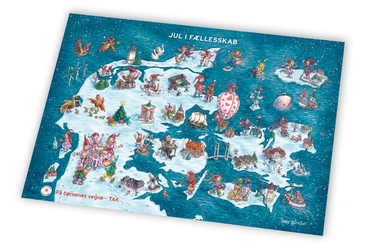 Plakat i A3 med Julemærket 2020