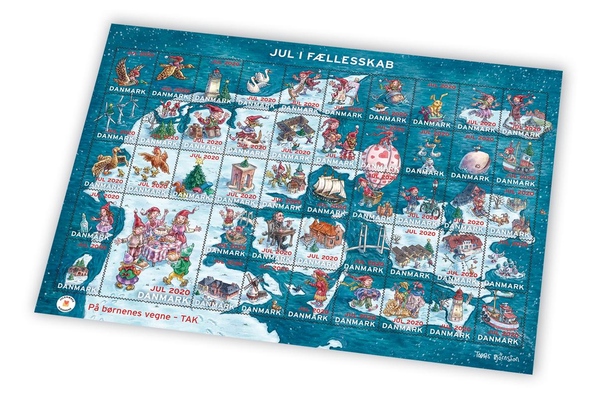 Julemærket 2020, 'Jul i Fællesskab', motiv: Genforeningen 100 års jubilæum, Kunstner: Tomas Björnsson