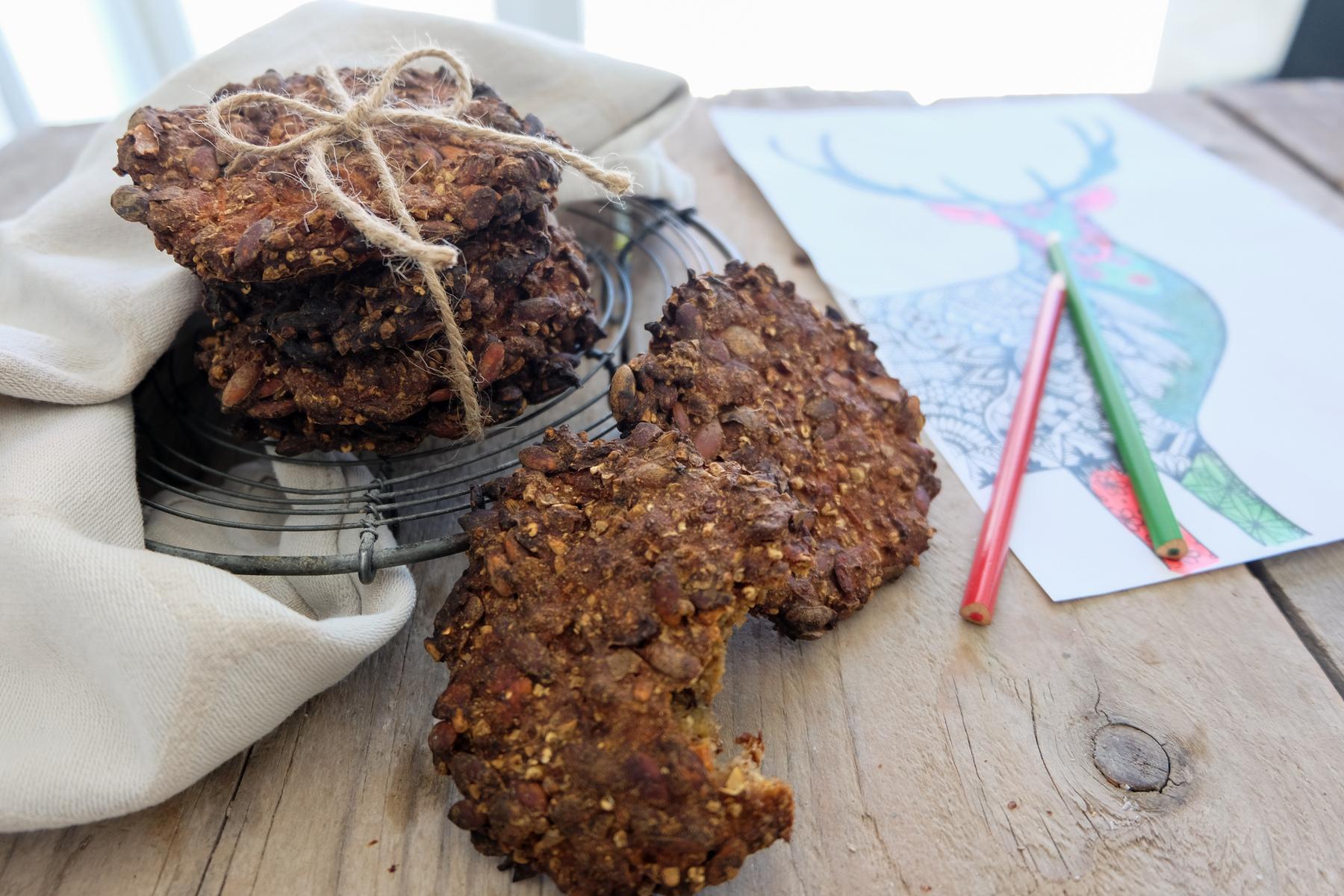 Rugbrøds-cookies