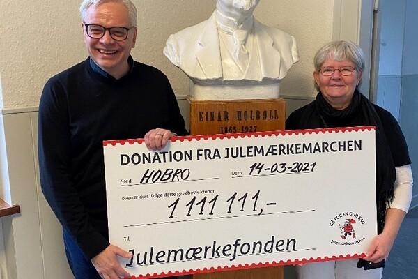 Flot donation fra Julemærkemarchen 2020
