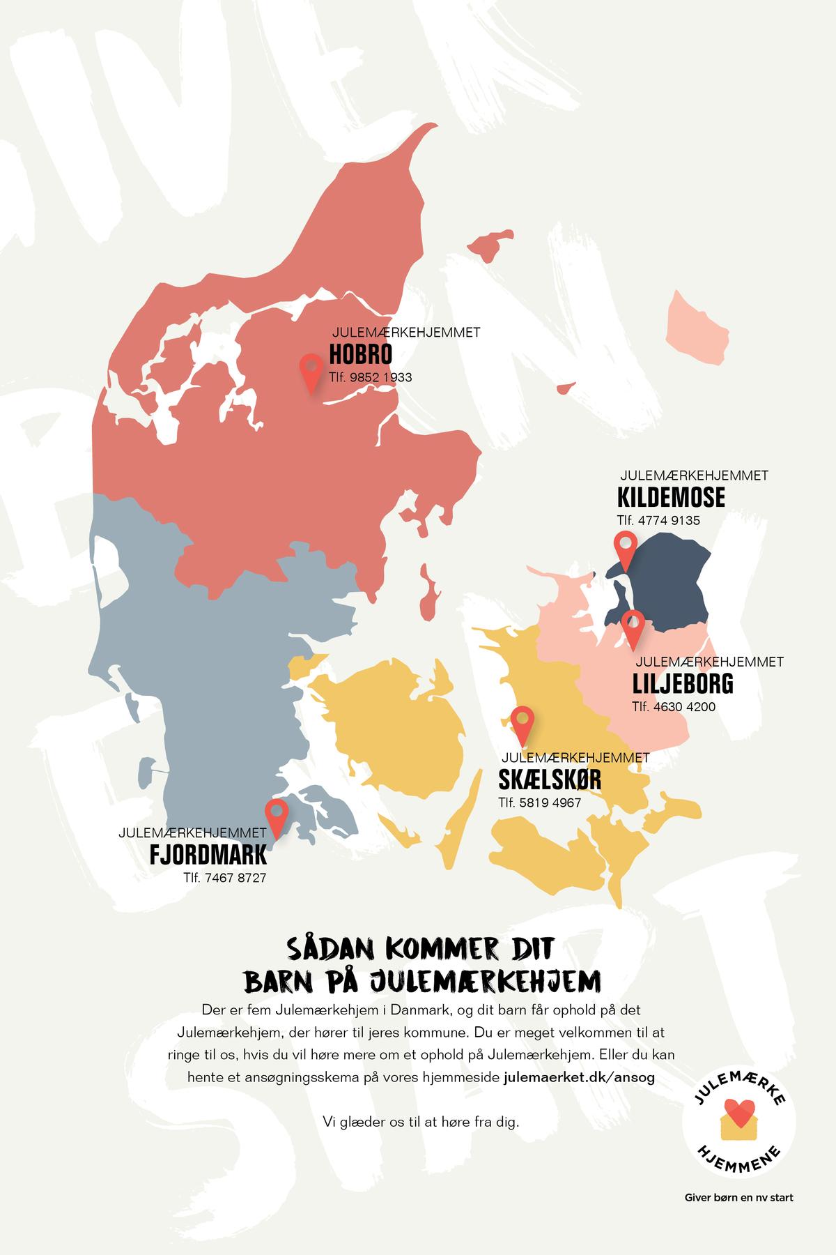 Kommunekort - Hvilket Julemærkehjem hører din kommune til?