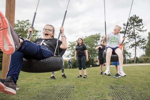 Der er motion, leg og bevægelse hver dag for børnene
