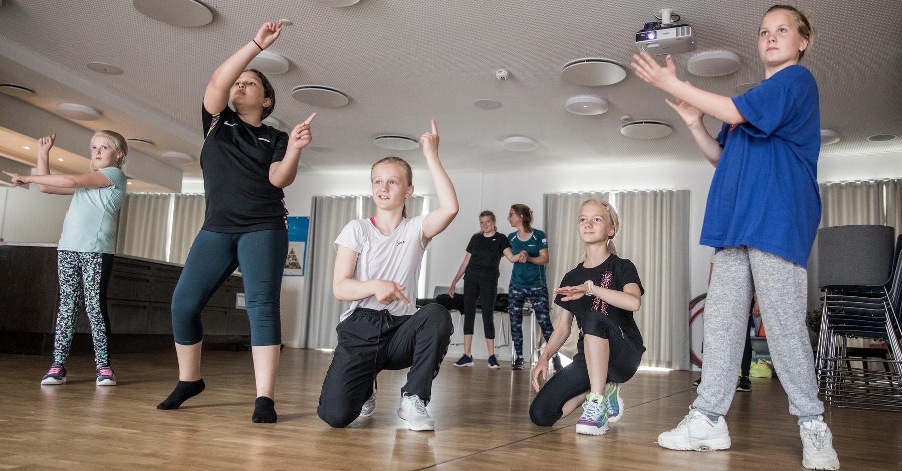 Daglig motion, leg og bevægelse er en del af børnenes hverdag